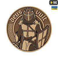 M-Tac нашивка Deus Vult 3D ПВХ койот