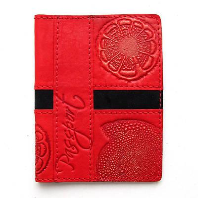 Обложка на паспорт кожаная Guk (5507)