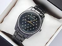 Женские часы Michael Kors b133-1, черные, сетка из страз