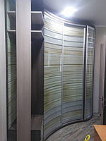 Полосатый Радиусный шкаф-купе волной