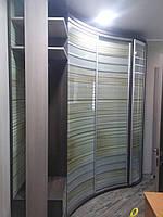 Полосатый Радиусный шкаф-купе волной, фото 1