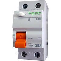Дифференциальный выключатель нагрузки ВД63 2р 25А 30мА С