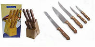 Набор  ножей ТрамонтинаTramontina  на деревянной подставке