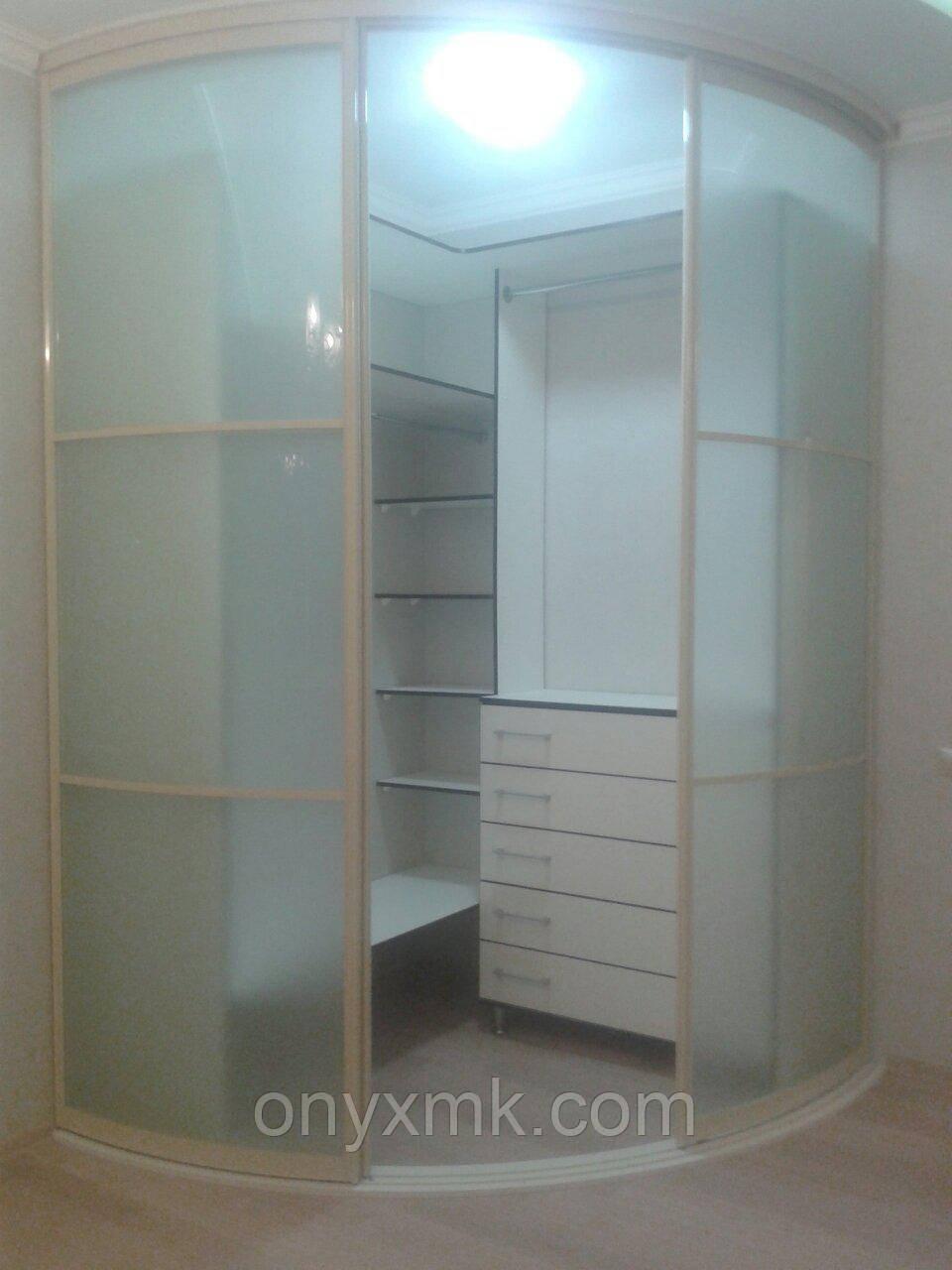 Прозрачный Радиусный шкаф-купе