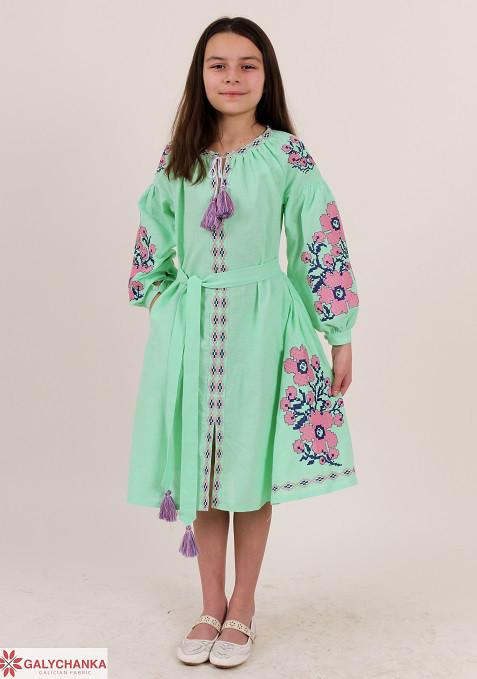 580d65d8101e5e6 Красивое детское платье для девочки вышитое крестиком - Оптово-розничный  магазин одежды