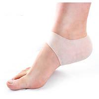 Силиконовые SPA носки для увлажнения пяток ног (от трещин кожи пяток), белые упаковка 2шт (1пара)