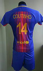 Футбольная форма детская Coutinho Barcelona 2017-18 распродажа