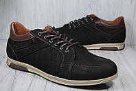 Кожаные мужские мокасины на шнурках Prime, фото 1
