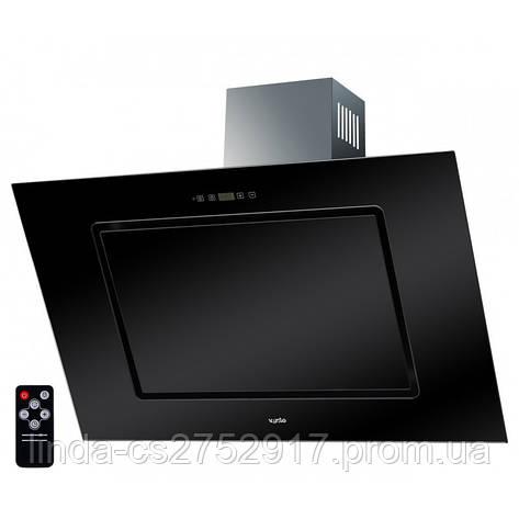 Кухонная вытяжка TREVI 90 BK (1000) TC IT VentoLux, наклонная кухонная вытяжка, фото 2