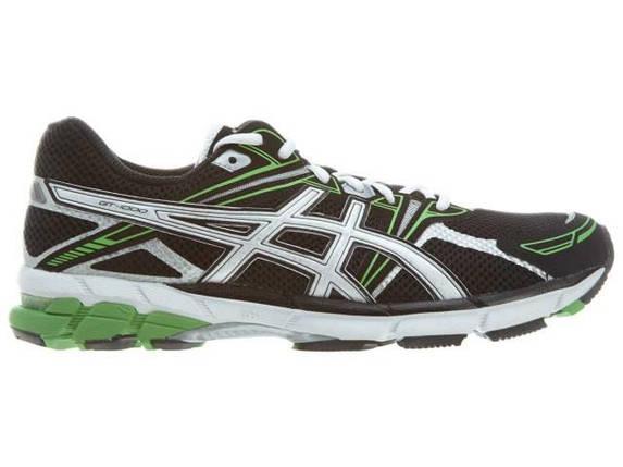 Кроссовки мужские ASICS GT-1000 Black Green (Cетка), фото 2