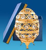 Фигурка Сваровски с позолотой Яйцо сувенирное AR-1021. Пасхальные сувениры