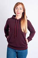 Стильная женская толстовка бордового цвета. Размеры: S, M, L