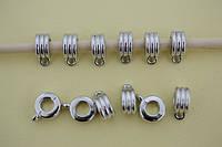 Бейлы шарм металлические, круги, 12х5х9 мм,  12шт