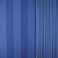 Шторы портьеры в сине голубые полоски