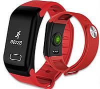 Фитнес-браслет SmartBand F1 с пульсометром Red (в стиле Xiaomi Mi Band 2) , фото 1