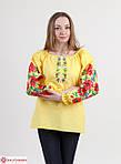 Домотканая женская блуза белая с полевыми цветами, фото 2
