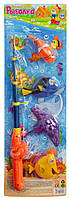 Дитяча рибалка M 0042 UR (96шт) 4 рибки, вудочка