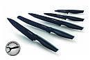 Набор кухонных ножей 5шт с мраморным покрытием Royalty Line antibakterial, фото 4
