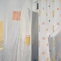 Тюль ткань гардинная молочная с абс. рис.