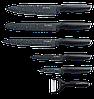 Набор кухонных ножей 5шт с мраморным покрытием Royalty Line antibakterial