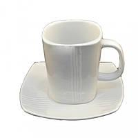 Чашка Фарфоровая Белая С Блюдцем 250мл HR1314(111009L)