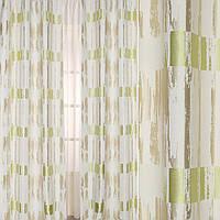 615217491 - Жаккард атласный в бежевые, салатовые полосы с абстрактным рисунком, ш.140