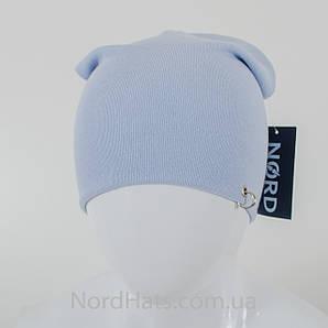 """Удлиненная двойная шапка  """"Пирсинг"""", Голубой"""