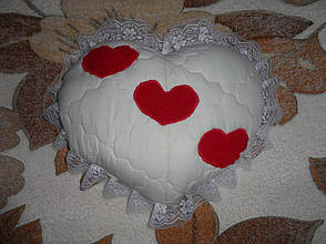Подушка сердечко ручная работа