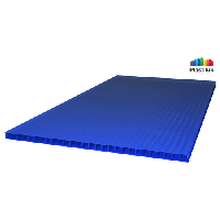 Сотовый поликарбонат Royalplast 6 мм, синий