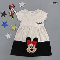 Летнее платье Minnie Mouse для девочки. 4-5;  5-6 лет, фото 1
