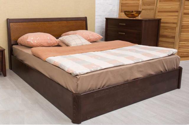 Кровать полуторная Сити с подъемной рамой, интарсия