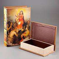 """Шкатулка-книга """"Дева Мария с Иисусом"""" 2 шт. набор"""