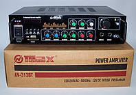 Усилитель звука MAX AV-313BT MP3/FM/Bluetooth рэковый усилитель мощности 2*90W