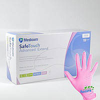 Перчатки нитриловые розовые SafeTouch Advanced Extend уп.50пар
