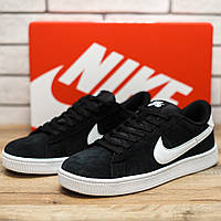 Мужские черные кроссовки Nike SB натуральная замша весна 2018