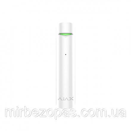 Беспроводной датчик разбития стекла Ajax GlassProtect белый