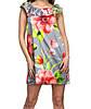 Платье с воланом/ цветочным принтом шелковое женское