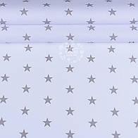Отрез ткани  ранфорс с серыми звёздочками на белом фоне, ширина 220 см (№928)