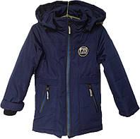 """Куртка детская демисезонная """"R"""" #GP-54 для мальчиков. 6-7-8-9-10 лет. Синяя. Оптом., фото 1"""