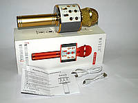 Микрофон с Караоке Wster WS-858, gold