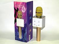 Микрофон с функцией Караоке Q7 StreetGo Bluetooth Karaoke USB AUX MP3 Player, gold