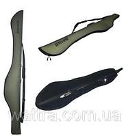 Чехол KENT&AVER полужесткий для удочки с катушкой,1350 мм.,серый