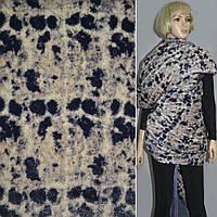 Мех искусственный молочный в черный фиолетовый пятна ш.150 , меховая ткань