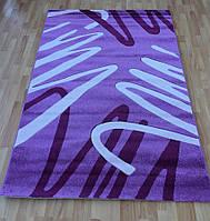 Ковер на пол фиолетовый с плотным ворсом Club