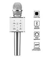 Караоке-микрофон Q7 Silver (USB/Bluetooth)