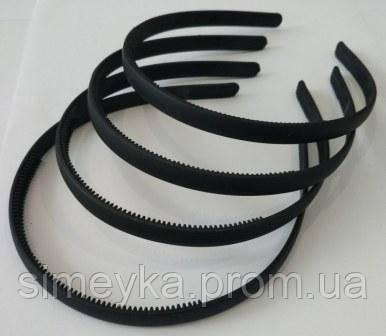 Обруч для волос прорезиненный черный 10 мм
