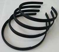 Обруч для волос прорезиненный черный 10 мм, фото 1