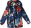 """Куртка детская демисезонная """"Tailang"""" #HL-1820 для мальчиков. 6-7-8-9-10 лет. С оранжевым узором. Оптом."""