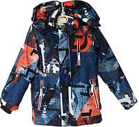 """Куртка детская демисезонная """"Tailang"""" #HL-1820 для мальчиков. 6-7-8-9-10 лет. С оранжевым узором. Оптом., фото 1"""