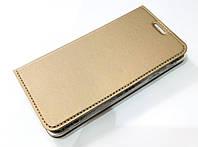 Чехол книжка KiwiS для Samsung Galaxy A3 a310 (2016) золотой